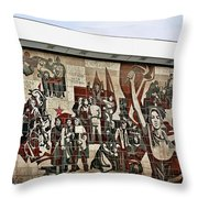 Traces of socialist idealism in Dresden Throw Pillow by Christine Till