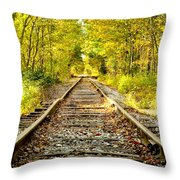 Track To Nowhere Throw Pillow by Greg Fortier