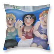 Tracy Tells All Throw Pillow by Caroline Peacock