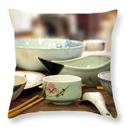Traditional Chinese Dinner Table Throw Pillow by Yali Shi
