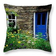 Traditional Cottage, Co Cork Throw Pillow by The Irish Image Collection
