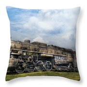 Train - Engine - Nickel Plate Road Throw Pillow by Mike Savad