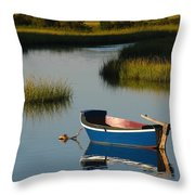 Tranquil Cape Cod Photography Throw Pillow by Juergen Roth