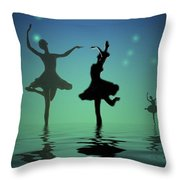 Tranquil Persuasion Throw Pillow by Joyce Dickens