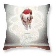 Transcendent Flight Throw Pillow by Amy S Turner