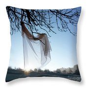 Transparent Fabric Throw Pillow by Bernard Jaubert