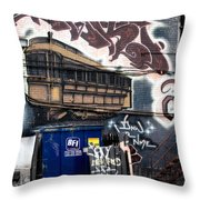 Trashed Throw Pillow by Lisa Knechtel