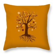 Tree Throw Pillow by Frank Tschakert
