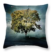 Tree Of Hope Throw Pillow by Mary Hood