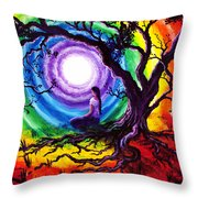Tree Of Life Meditation Throw Pillow by Laura Iverson