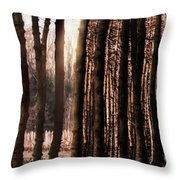Trees Gathering Throw Pillow by Wim Lanclus