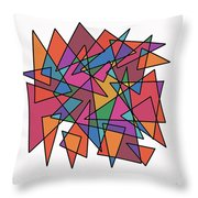 Triangles In Motion Throw Pillow by ME Kozdron