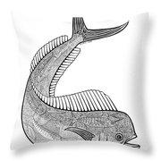 Tribal Mahi  Throw Pillow by Carol Lynne