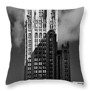 Tribune Tower 435 North Michigan Avenue Chicago Throw Pillow by Christine Till