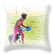 Tricks Throw Pillow by Brian Wallace