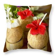 Tropical Cocktail Throw Pillow by Kyle Rothenborg - Printscapes