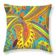 Tropical Sizzle Throw Pillow by Ramneek Narang