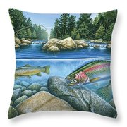 Trout View Throw Pillow by JQ Licensing