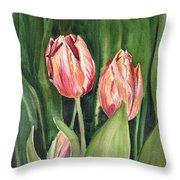 Tulips  Throw Pillow by Irina Sztukowski