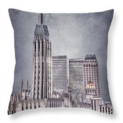 Tulsa Art Deco II Throw Pillow by Tamyra Ayles