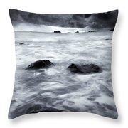 Turbulent Seas Throw Pillow by Mike  Dawson