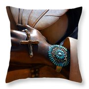 Turquoise Bracelet  Throw Pillow by Susanne Van Hulst