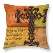 Tuscan Cross Throw Pillow by Debbie DeWitt