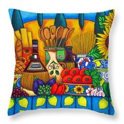 Tuscany Delights Throw Pillow by Lisa  Lorenz