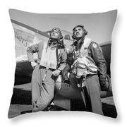 Tuskegee Airmen Throw Pillow by War Is Hell Store