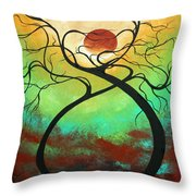 Twisting Love II Original Painting by MADART Throw Pillow by Megan Duncanson