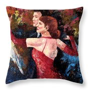 Two To Tango Throw Pillow by David G Paul