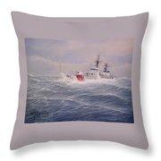 U. S. Coast Guard Cutter Gallitin Throw Pillow by William H RaVell III