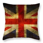 UK Flag Throw Pillow by Brett Pfister
