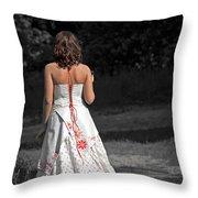 Ukrainian Bride Throw Pillow by Evelina Kremsdorf