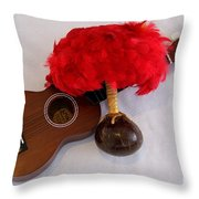 Ukulele and UliUli Throw Pillow by Mary Deal