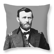 Ulysses S Grant Throw Pillow by War Is Hell Store