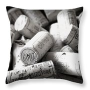 Uncorked Throw Pillow by Georgia Fowler