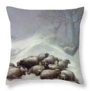 Under The Shelter Of The Shapeless Drift Throw Pillow by Thomas Sidney Cooper
