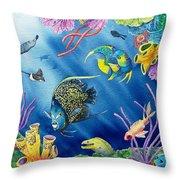 Undersea Garden Throw Pillow by Gale Cochran-Smith