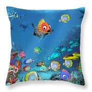 Underwater Fantasy Throw Pillow by Doug Kreuger