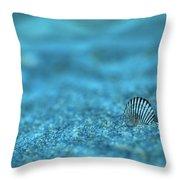 Underwater Seashell - Jersey Shore Throw Pillow by Angie Tirado