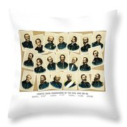 Union Commanders of The Civil War Throw Pillow by War Is Hell Store