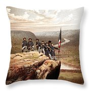 Union Soldiers On Lookout Mountain Throw Pillow by War Is Hell Store