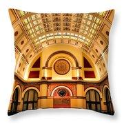 Union Station Balcony Throw Pillow by Kristin Elmquist