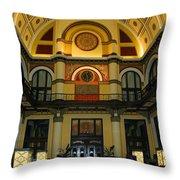 Union Station Lobby Throw Pillow by Kristin Elmquist