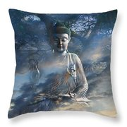 Universal Flow Throw Pillow by Christopher Beikmann