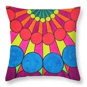Universal Flower 2 Throw Pillow by Ann Sokolovich