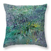 Blind Giverny Throw Pillow by Ralph White