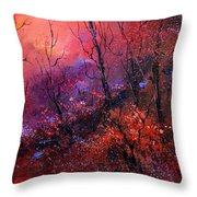 Unset In The Wood Throw Pillow by Pol Ledent