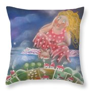 Up And Away Throw Pillow by Caroline Peacock